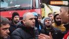 Rize-Artvin Havalimanı İnşaatı Önünde Kamyoncular Eylem Yaptı