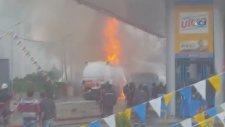 Tuzla'da Benzin İstasyonunda Patlama