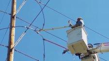 Yüksek Gerilim Enerji Hattı Kablosunun Kesilmesi