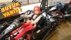 Go Kart Pistinde Büyük Yarışma!! Melike Arabayla Duvara Çakıldı