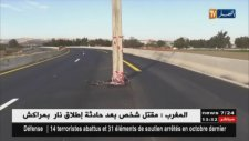 Otoyolun Ortasına Elektrik Direği Dikilmesi - Cezayir