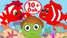 Kırmızı Balık ve Küçük Kurbağa Çocuk Şarkıları Bir Videoda | Türkçe Bebek Şarkıları Dinle