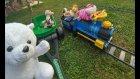 Dev Oyuncak Treni Bahçeye Çıkardık, Tavşan Kedicik Makinist Oldu..eğlenceli Çocuk Videosu