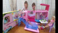 Barbie Dream Camper, Yeni Rüya Karavanı, Havuzlu Mangallı Aktiviteli, Eğlenceli Çocuk Videosu