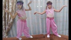 ELİFE PEMBE ORYANTAL DANS KOSTÜM, Harem kız dansöz kostüm, Eğlenceli çocuk videosu