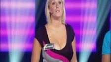 Göğüsleri İle Çarkıfelek Yarışmasına Damga Vuran Kadın Yarışmacı