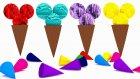 Çocuklar İçin İngilizce Renkleri Öğreten Video - Dondurmalar İle Renkleri Öğreniyorum