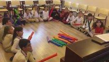Boomwhackers Melodik Borular Notalı Müzik Boruları ile Tekirdağ MEKTEBİM Okulunda Müzik