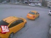 Alkollü Kadının Park Halindeki Taksiyi Kaçırması - Ankara