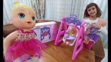 Lala, Liza Ve Nenuco Bebek İçin Oyuncak Salıncak. Toys Unboxing