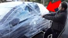 Eşek Şakası - Melih'in Arabasını Streç Filmle Kapladık