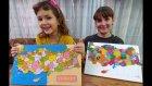 2 Ahşap Türkiye Puzzle Karşılaştırıyoruz. Şehirlerimizi Öğreniyoruz.elif İle Challenge Yarışma