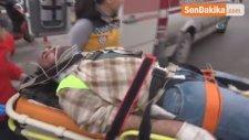 Aksaray'da İnşaat İskelesinden Düşen 2 İşçi Yaralandı