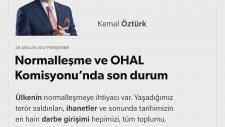 Kemal Öztürk; Ohal Komisyonu'nda Son Durum