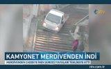 Yol Yerine Merdivenleri Seçen Şoför  İstanbul