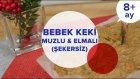 Bebek Keki - Elmalı & Muzlu (Şekersiz) (8 Ay +) | İki Anne Bir Mutfak