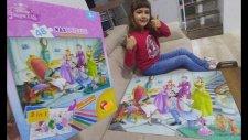 Prenses Maxi Puzzle. Sindirella Puzzle Ve Boyama, Toys Unboxing