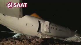 Trabzon'da Yaşanan Uçak Kazasından İlk Görüntüler (14 Ocak 2018)