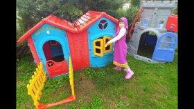 Elif Maşa Oldu . Maşa İle Bahçede Sıcak Soğuk Oynadık, Kinder Joy, Barbi Winx Sürprizler