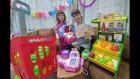 Elife Yeni Ahşap Süper Manav. Barbie Alışveriş Sepeti, Meyve Sebze Yiyecekler, Toys Unboxing