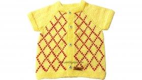 İşlemeli Bebek Yeleği Nasıl Yapılır? (Baştan Sona Anlatım) - örgü modelleri, knitting