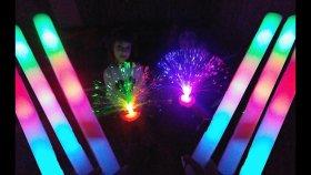 Süper Işık Gösterisi, Karanlıkta Renk Şow , Eğlenceli Çocuk Videosu, Toys Unboxing