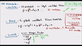 Diferansiyel Denklemler 1