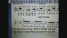 Finale 2011 A ikonu Text Caracter Settings yazı karakteri Font ayarları Türkçe Yazı Ayarı