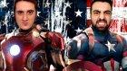 Iron Man Emjan Ve Kaptan Ümıdı Amerıka Kavgada !