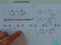 Matematik Öğretmeninin Soru Çözme Yöntemi