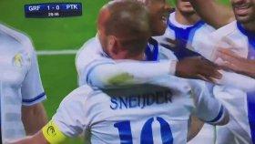 Sneijder Gol Attı, Şota Arveladze'nin Takımı Elendi