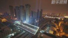 Çin'in Mühendislik Harikası Döndürülebilen Üst Geçit Köprü