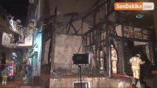 Fatih'te Bulunan Metruk Bina İşte Böyle Yandı