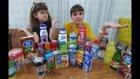 İçecek Challenge Yapıyoruz. Ençok İçen Kazanır, Ayran Kefir Salep Süt Çok Eğlendik