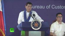 Filipinler Devlet Başkanının Lüx Arabaları Bulldozerle Ezdirmesi