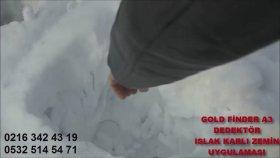 Ekranlı Altın arama dedektörü, Deep Gold Finder, Karlı arazide TEST videosu,