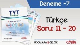 8'li TYT Denemesi -7 Bölüm -2 / Türkçe