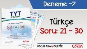 8'li TYT Denemesi -7 Bölüm -3 / Türkçe