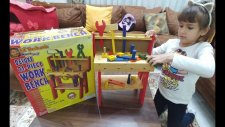 Elif Tamirci Oldu.21 Parça Ahşap Tamirat Seti Work Bench, Toys Unboxing