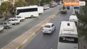 Uşak'ta Kazalar Mobese Kameralarında