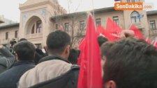 Çavuşoğlu-Tillerson Görüşmesi Sırasında Protesto