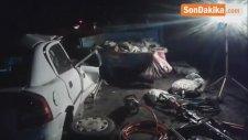 Pat Pata Çarpan Otomobil Hurdaya Döndü: 1 Ölü
