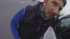 Servis Şoförünün Motosikletliye Otobanda Saldırısı