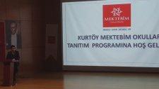 Velilere Okul sunumu Kurtköy Mektebim Kampüs Müdürü Harun Şahin Eğitimi Anlatıyor