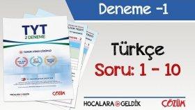 2'li TYT Denemesi -1 Bölüm -1 / Türkçe