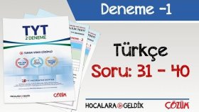 2'li TYT Denemesi -1 Bölüm -4 / Türkçe