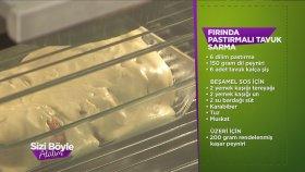 Fırında Pastırmalı Tavuk Sarma Tarifi