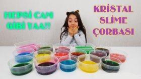 16 Tabak Kristal Cam Slime Ve Slime Çorbası!!
