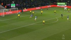 Cenk Tosun'un İlk Golüne Çok Yaklaştığı Watford Maçı (Watford 1-0 Everton)