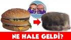 Hamburgeri 1 Ay Dışarıda Beklettik - NE HALE GELDİ? + Döner, Süt, Patates, Gofret